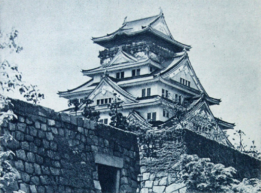 Reconstructed tower-keep of Osaka Castle