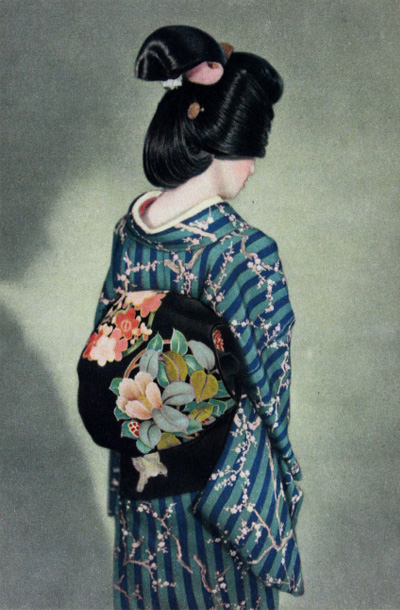 THE JAPANESE-STYLE COIFFURE HARMONIZES PERFECTLY IN THE. LADY'S ENSEMBLE